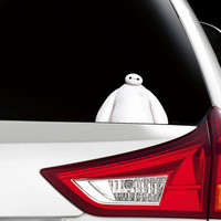 Big Hero 6 Baymax Peeking Funny Joke Novelty Car Bumper Window Sticker Decal Colour New