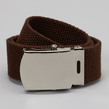 Kids boys or girls Brown military belt infants to teens perfect for school
