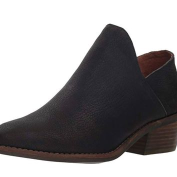 Lucky Brand Fausst Black Deer Ankle Booties