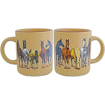 CMMD10 Coffee Mug Tan Speckled Horses with Maryland