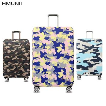 Travel accessories luggage luggage cover high elastic camouflage zipper dust cover is suitable for 20-32 inch trolley suitcase