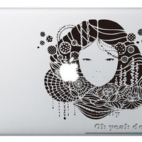 Beautiful gir2l- Decal laptop MacBook pro decal MacBook decal MacBook air sticker 057