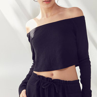Out From Under Chill Out Off-The-Shoulder Cropped Top   Urban Outfitters