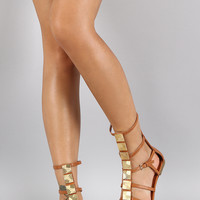 Liliana Square Ornament Gladiator Flat Sandal