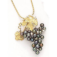 Pearl and Diamond Grape Necklace
