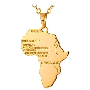 Hip Hop Africa Necklace Pendant