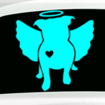 PitBull Angel Decal With Heart.