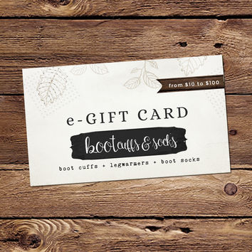 Send a BootCuffSocks.com Gift Card by Email!