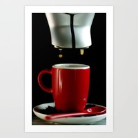 Red coffee cup Art Print by tanjariedel