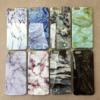New Marble Case Cover for iphone 5s 6 6s Plus Gift 187