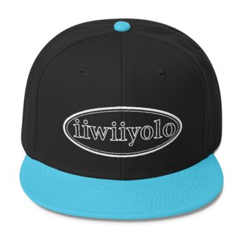 Wool Blend Snapback - - White iiWiiyolo Oval Label