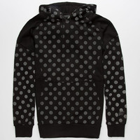 Hall Of Fame Tech 3M Dots Mens Reflective Hoodie Black  In Sizes