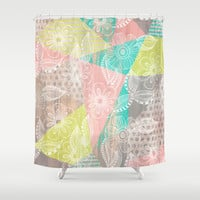 Floral MIX Shower Curtain by Louise Machado