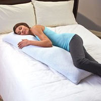 Cool Gel Infused Memory Foam Body Pillow Neck Back Support Antimicrobial 50""