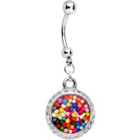 Body Candy Handcrafted Stainless Steel Real Candy Sprinkles Dangle Belly Ring - Walmart.com