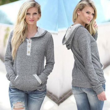 CREY7ON Fashion hooded pocket sweater