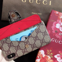 GUCCI Wallet Cover Case for iPhone 6 7 8 PLUS XSMAX XR