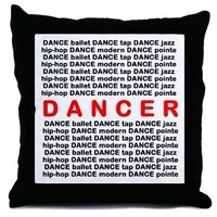 Dancer Block Words Throw Pillow