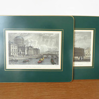 Two felt backed Lady Clare W.H. Bartlett scenes of Ireland place mats