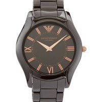 Large Brown Ceramic Watch, Mens