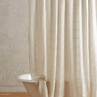 NWT Anthropologie Masula Shower Curtain - Silver
