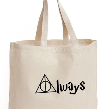 Always Cotton Tote shopping  office school book Bag harry potter Printed Fan art