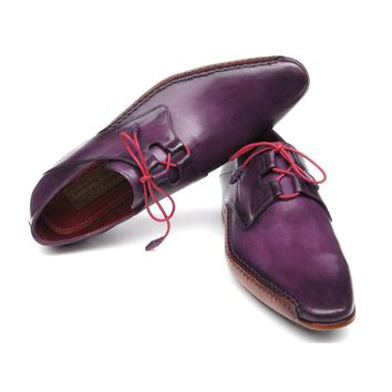 Ghillie Lacing Side Handsewn Dress Shoes - Purple
