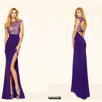 Mori Lee Jersey Fitted Dress 98025