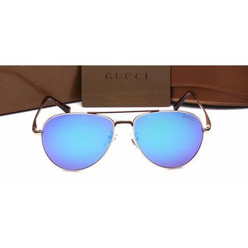 Gucci Women Casual Sun Shades Eyeglasses Glasses Sunglasses Blue G