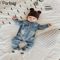 2017 Baby Clothes Spring Autumn Cowboy Denim Romper Cartoon Giraffe Infantil Overall Jeans Baby Boy Clothing Bebe De Roupa