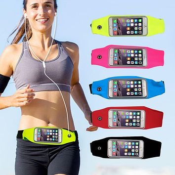 Universal Sport Waterproof Running Bags Waist Pack Pouch Mobile Phone Case for iPhone 6S Plus Cover for Xiaomi Redmi Note 3 pro