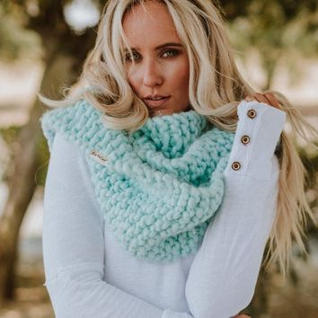 Magical Chunky Wrap Infinity Scarf - Mint