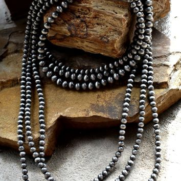 Layered Navajo Beads Necklace