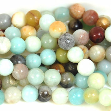6mm Amazonite Natural  Round Beads -15 inch strand