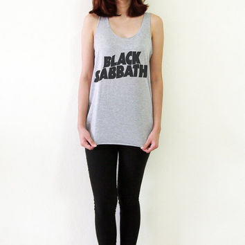 Black Sabbath Shirt Tank Top UK Rock Band TShirt Women Tshirts