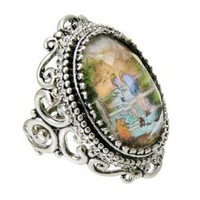 Disney Couture Winnie the Pooh & Christopher Robin Classic Artwork Ring  at Zentosa