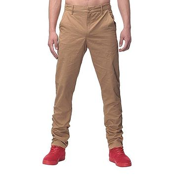 Fashion Mens Straight Cargo Pants chinos Casual Slim Fit business style Trousers