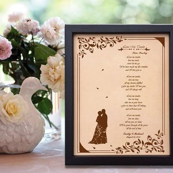 Lik17 Leather Engraved Wedding Third Anniversary Gift Personalized Anniversary Gift wedding First Dance Lyrics