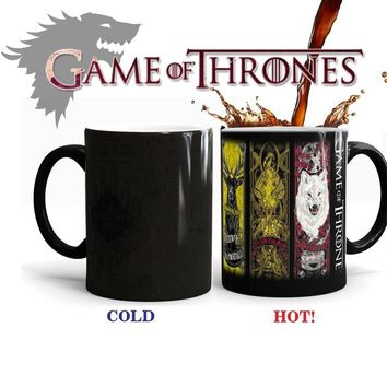 New Power Game Tribal Totem Color Changing Mugs Game Of Thrones Keller (Color: Black)