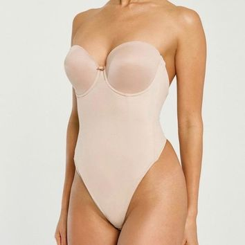 Backless Strapless Thong Bodysuit Shapewear