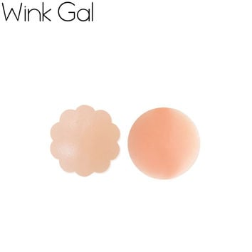 Wink Gal Sexy Nipple Cover Silicone Breast Pads Swimsuit Padding Inserts Bra Accessories