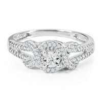 1/8 ct. tw. Round Diamond Promise Ring in Sterling Silver         -                Promise Rings         -                Rings         -                Jewelry         -                Categories                       - Helzberg Diamonds