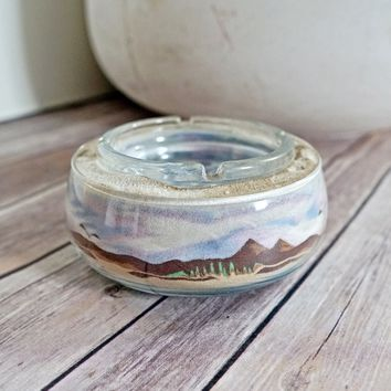 Vintage 1970s Handmade + Desert Sand Ashtray