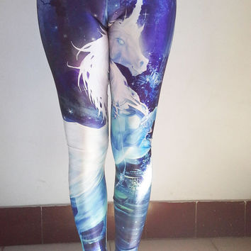 Unicorn Leggings -High Quality Digital Printed Tights , Womens Tights , Yoga Leggings, Yoga Pants ,Womens Pants