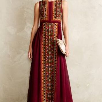 Bajwa Maxi Dress by Tanvi Kedia Purple Motif