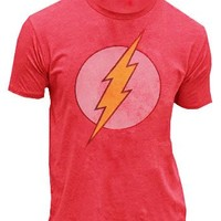 Junk Food True Vintage The Flash Original Distressed Logo Red Mens T-shirt