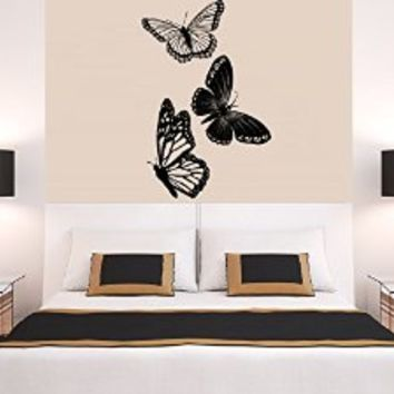 Wall Decal Vinyl Sticker Decals Art Decor Design Bedroom Nursery Office Dorm Butterly Beautiful Fashion Gift (r1399)