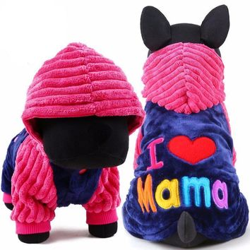 Puppy Dog Fleece Sweater With Hoodie