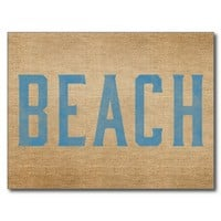 Burlap Beach from Zazzle.com