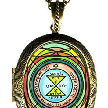 Solomons 3rd Seal of Venus for Love, Respect & Admiration Xl Solid Perfume Locket Gold Bronze